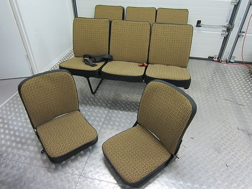 Maß- Schonbezüge Barkas B1000 Sitze komplett mit Orginalstoff 8 Sitzer komplett