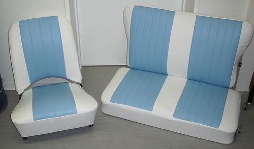SET 3 Bild 1 Trabant Sitze 500 und 600 komplett wie original Kunstleder