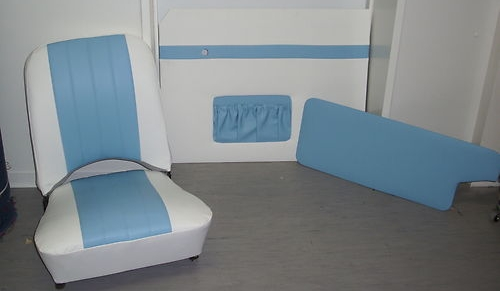 SET 3 Bild 3 Trabant Sitze 500 und 600 komplett wie original Kunstleder