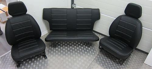 Sitzbezüge Schonbezüge Trabant 601 Kombi-Limo-Kübel Kunstleder schwarz gesteppt