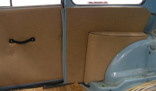 Türverkleidung, Türpappen Trabant 500 und 600 und 601 komplett wie orginal